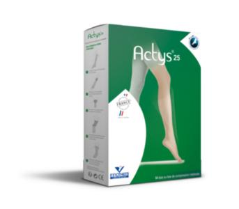 Actys 25 - Chaussettes Femme Classe 3 - Taille 3- Normal - Beige Naturel