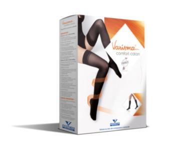Varisma Comfort Coton Pieds Ouverts - Bas Autofixant Femme Classe 2 - Taille 3 Normal - Beige Nature