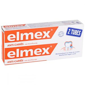 Dentifrice anti-caries Elmex - 2 x 75 ml
