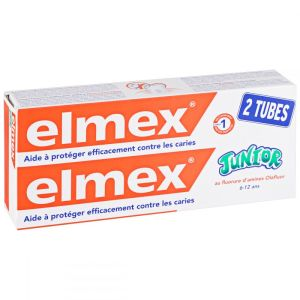 Dentifrice Elmex Junior 6-12 ans - 2 x 75 ml