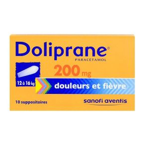 Doliprane 200mg - 10 suppositoires