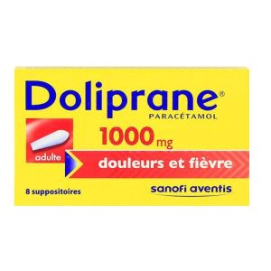 Doliprane 1000mg - 8 suppositoires