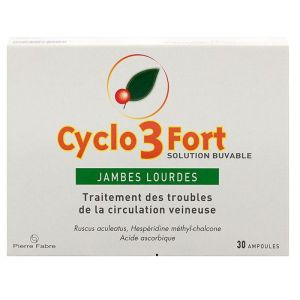Cyclo 3 fort 30 ampoules - Pierre Fabre