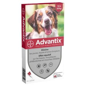 Advantix Moyen Chien Spot-On - 4 pipettes