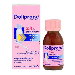 Doliprane suspension buvable - 100ml