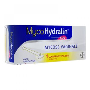 Mycohydralin 500mg Comprimé vaginal - 1comprimé + applicateur