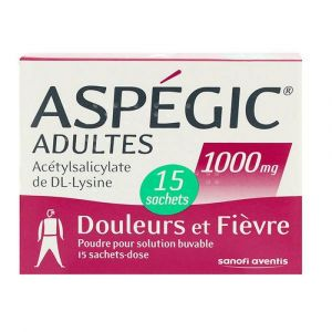 Aspegic 1000mg - 15 sachets
