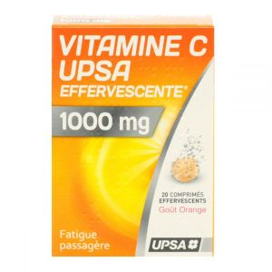 Vitamine C 1000 mg UPSA x 20 comprimés effervescents