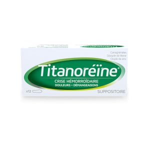 Titanoreine Suppositoire - 12 suppositoires